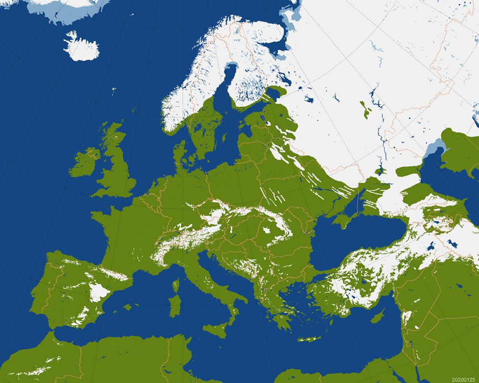 harta zapezii europa
