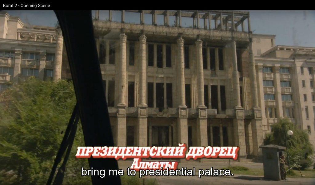Borat Subsequent Moviefilm, scene shot in Romania
